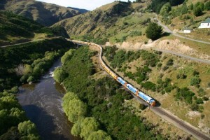 Approaching Hindon on the Taieri Gorge Train